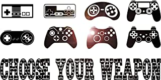 Large Vinyl Wall Decal Gaming Quote Joysticks Video Game Stickers Large Decor (ig4500) Black S 11 in X 22 in