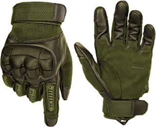 Ultrafun Unisex Motorcycles Cycling Gloves Touch Screen Full Finger Gloves Hard Knuckle Tactical Military Combat Training ...