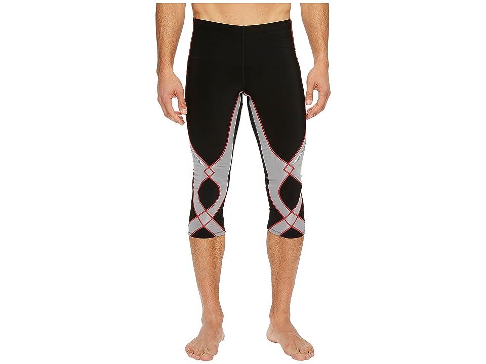 CW-X Insulator Stabilyx 3/4 Tights (Black/Light Grey/Red) Men