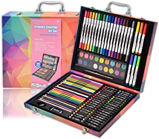 Darnassus 132-Piece Art Set, Deluxe Professional Color Set, Art Kit for Kids and Adult, with Compact Portable Case