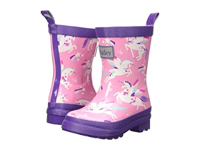 Hatley Kids Rainbow Unicorns Rain Boots (Toddler/Little Kid) (Pink) Girls Shoes