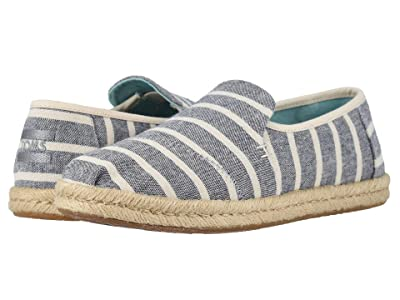 TOMS Deconstructed Alpargata Rope (Navy Cabana Stripes) Women
