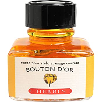 J. Herbin Fountain Pen Ink - 30 ml Bottled - Bouton d'Or