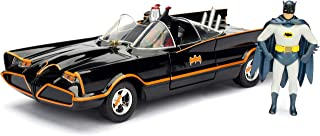DC Comics 1966 Classic TV Series Batmobile with Batman and Robinfigures; 1:24 Scale Metals Die-Cast Collectible Vehicle