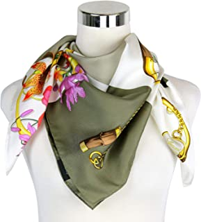 4d48fcd88fe0 Gucci Women s Patchwork Print Brown Beige Silk Large Handbag Scarf 394522  9879