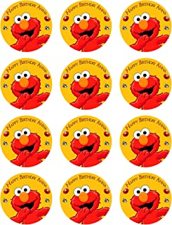 Elmo - Edible Cupcake Toppers - 2