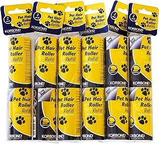 comprar comparacion KORBOND - Recambios para Rodillo quitapelusas 12 Unidades, Elimina Las Pelusas, el Polvo, el Cabello, los pelos de Animale...