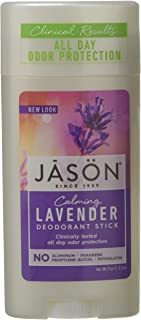 Jason Calming Lavender Aluminum and Paraben Free Deodorant Stick, 2.5 Ounce