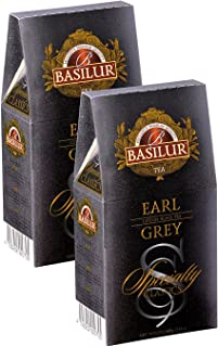 Basilur, Specialty Classics Collection, Single Origin, 100% Pure Ceylon, Earl Grey, 100g Loose Leaf Box (Pack of 2)