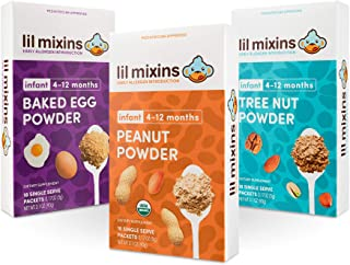 Sponsored Ad - Lil Mixins Early Allergen Introduction Powder, Baked Egg, Tree Nut, & Peanut Mix-Ins | For Infants & Babies...