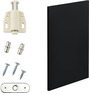 [en.casa] Porte d'armoire Moderne - Porte pour systéme d'étagére - 27x42 cm - Noir