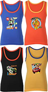 BODYCARE Mickey Printed Vest for Boys Pack of 4