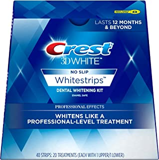 Crest 3D White Professional Effects Whitestrips Teeth Whitening Strips Kit (Pack of 1)