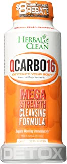 Herbal Clean QCarrbo16 Detox, Orange, 16 Fluid Ounce