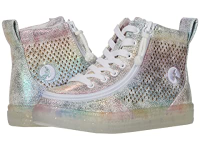 BILLY Footwear Kids Classic Lace High (Little Kid/Big Kid) (Rainbow Crackle) Girl