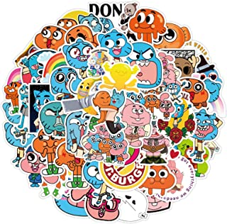Cartoon The Amazing World of Gumball Stickers for Kids 50pcs, Cute Waterproof Stickers for Water Bottles Laptop Phone Bike...