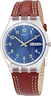 Men's Analogue Quartz Watch with Leather Strap GE709