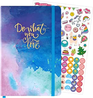 Dotted Bullet Notebook/Journal - Dot Grid Hardcover Notebook, Premium Thick Paper with Bonus Stickers and Page Quick Page ...