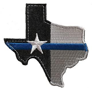 Texas Thin Blue Line Morale Patch Police Law Enforcement