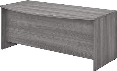 Bush Business Furniture Studio C Bow Front Desk, Platinum Gray