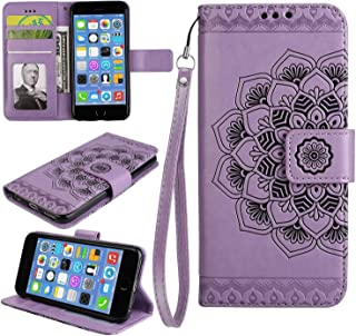 Huawei P10 Case, Bear Village® Leather Wallet Cover, Anti-Scratch Embossing PU Case with Magnetic Closure and Card Slots for Huawei P10 (#5 Purple)