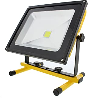 ABN Rechargeable LED Work Light – 50W Cordless Shop Work Light with Charger Adapter, 4500LM Portable Flood Light