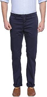 BASICS Tapered Fit Night Sky Navy Satin Stretch Trouser