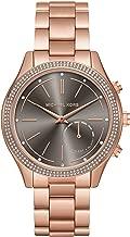 Michael Kors Women's 42mm Access Slim Runway Rose Goldtone Pav= Hybrid Smart Watch