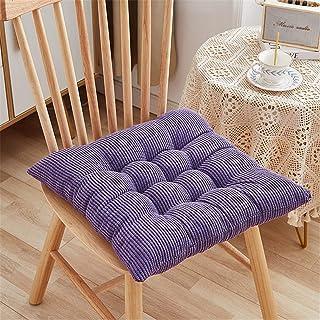 RAILONCH 2 cojines para silla, con lazos, para exteriores, para interior y exterior, para sillas de jardín, color lila, 40 x 40 cm