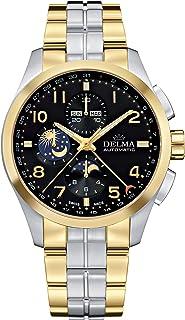 DELMA - Klondike moonphase Reloj para Hombre Analógico de Cuarzo con Brazalete de Acero Inoxidable 52701.680.6.032