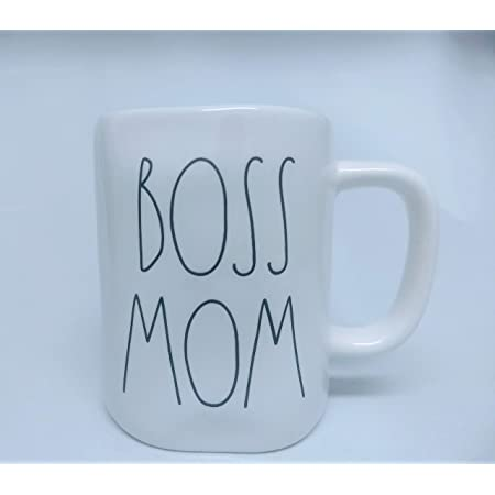 RAE DUNN MOM WIFE BOSS Mug For Moms New with Tag REA DUNN Large Letter LL