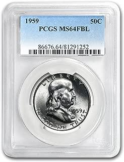 1959 Franklin Half Dollar MS-64 PCGS (FBL) Half Dollar MS-64 PCGS