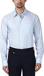 Park Avenue Full Sleeve Ainsley Collar Light Blue Shirts