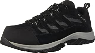 Columbia Men's Crestwood Wide Hiking Shoe, Black/Columbia Grey, 14 Wide US