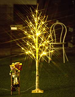 Bolylight Birch Tree 4ft 48L LED Lighted Brich Tree for Christmas Decorations for Home..