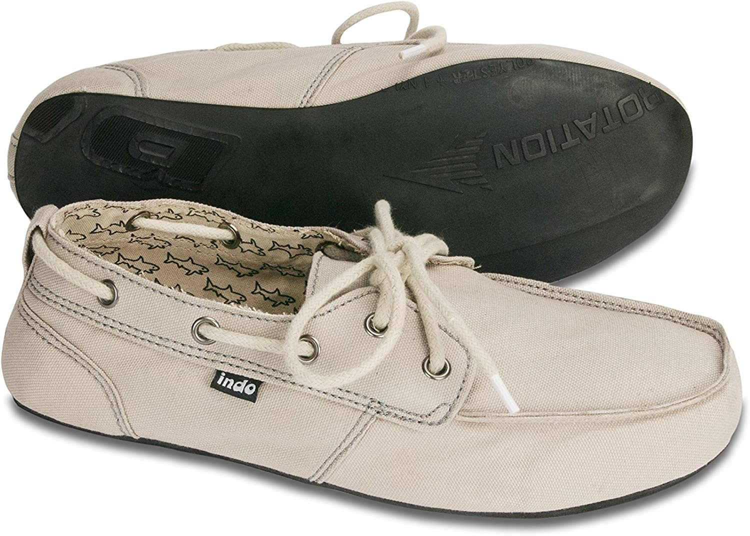 Indosole 100% Repurposed Tire Sole, Men's Prahu Boat shoes