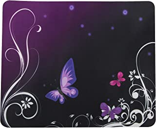 TRIXES Purple Butterfly Pattern Mouse Mat