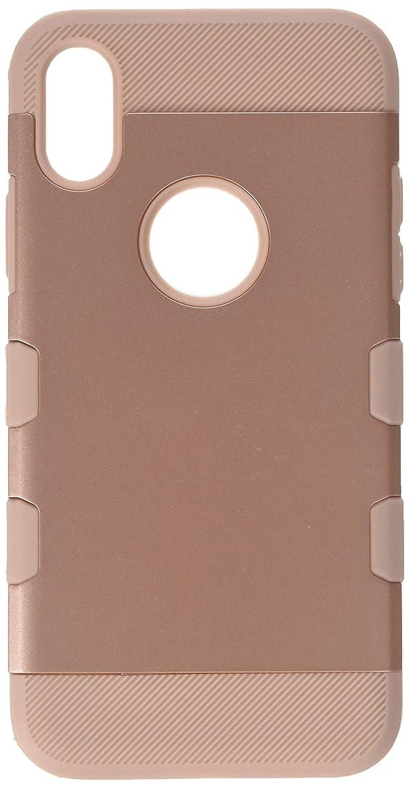 ニックネーム栄光の調査iPhone xケース、MYBAT Tuffデュアルレイヤ[衝撃吸収]保護ハイブリッドBrushed PC / TPUラバーケースカバーfor Apple iPhone X、ローズゴールド