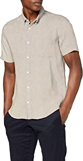 Marchio Amazon - find. - Short Sleeve Linen, Camicia Uomo