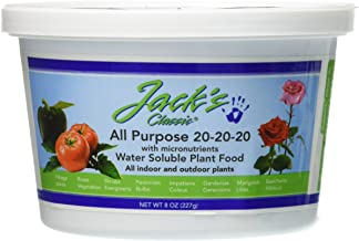 product image for J R Peters 52008 Jacks Classic 20-20-20 All Purpose Fertilizer, 8-Ounce