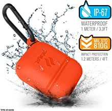 Waterproof Airpods Case for Apple Airpods 2 & 1 by Catalyst, Drop Proof Protective Cover Soft Skin, Carabiner, Silicone Sealing, Compatible Wireless Charging - Apple Accessories, Sunset