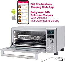 NUWAVE BRAVO XL 1800-watt Countertop Convection Oven with Flavor Infusion Technology (FIT) with Integrated Temperature Probe for Perfect Results; 12 Programmed Presets; 3 Fan Speeds; 5-Quartz Heating Elements; Get the Cooking Club App with Over 300 Recipes (Bravo XL)