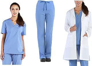 Tru Basic Unisex Professional Medical Uniform 3-Piece Scrub Set