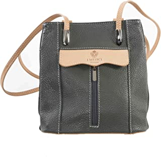 I Medici Italian Leather Messenger Bag That Are Directly Imported From Italy Grey 305