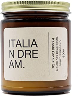 Kanobi Candle Co. Italian Dream Scented Soy Candle: 100% All Natural Soy Wax, Phthalate-Free Premium Fragrance, Lead-Free and Zinc-Free Cotton Wick, Long-Lasting, Clean Burn. (Italian Dream)