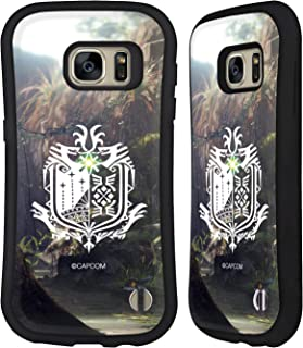Official Monster Hunter World Forest Logos Hybrid Case Compatible for Samsung Galaxy S7