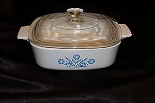 Corning Ware Blue Cornflower 1 Quart (A-1-B) Dish with Pyrex Lid (P-7-C)