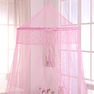 Fantasy Kids Galaxy Kids Collapsible Hoop Sheer Bed Canopy, One Size, Pink