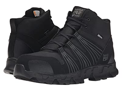 Timberland PRO Powertrain Mid Alloy Safety Toe ESD (Black Synthetic) Men