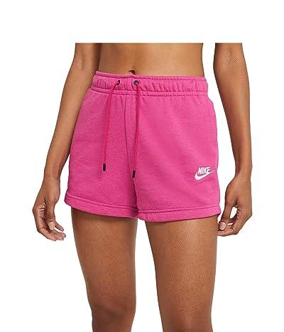 Nike NSW Essential Shorts French Terry (Fireberry/Heather/White) Women